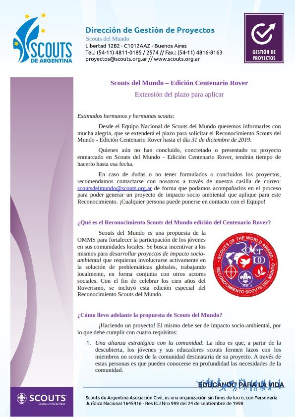 Scouts del Mundo-Centenario  Rover