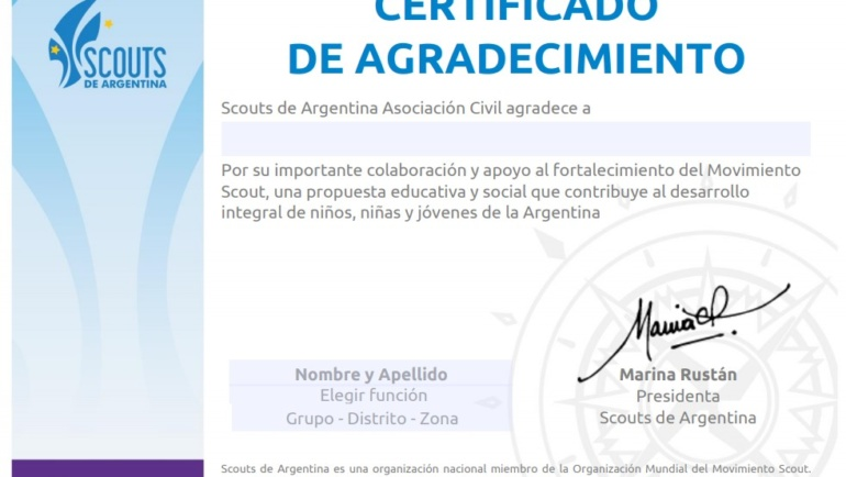 Certificados institucionales