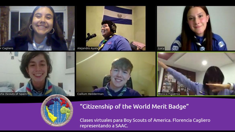 Scouts de Argentina presente en las clases virtuales de la Insignia de Ciudadanía Mundial