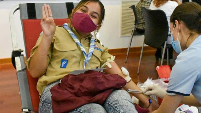 Scouts de Argentina y el Instituto de Hemoterapia de Buenos Aires se unen para salvar vidas
